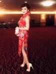 elegant asian girl in cheongsam