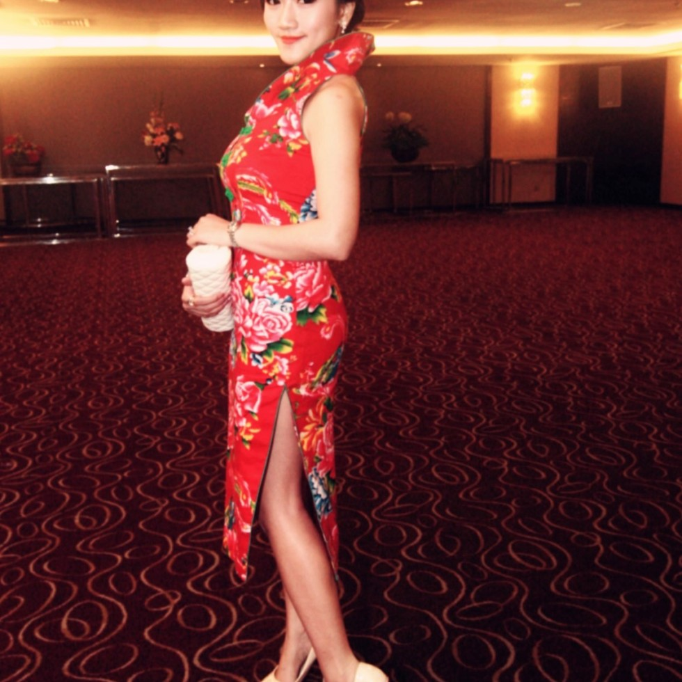 elegant asian girl in cheongsam