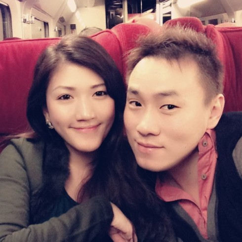 couple in train