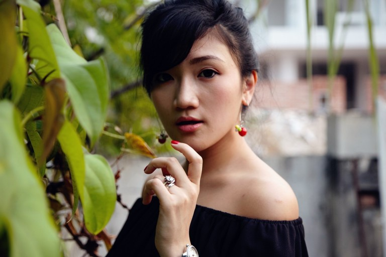 off shoulder blouse asian girl