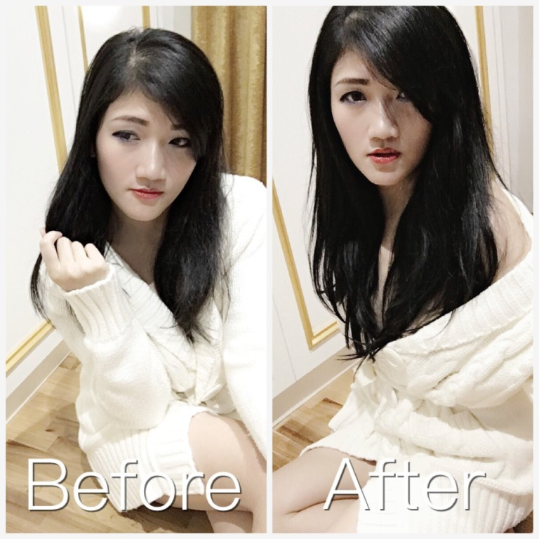 Hair Extension Before After 1
