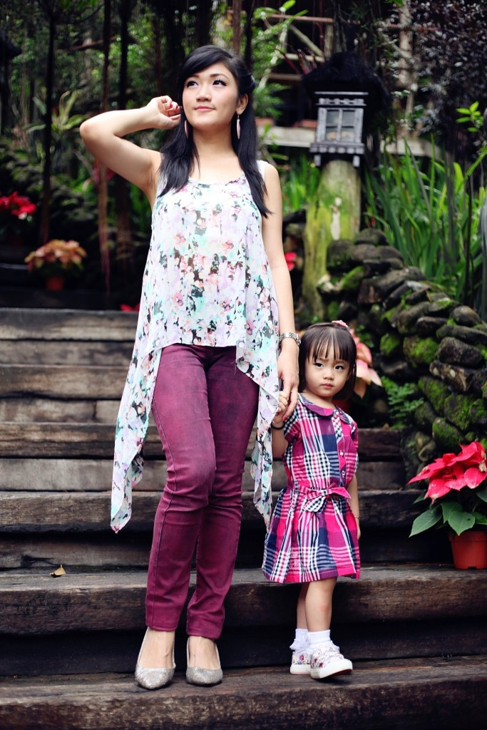 fashion shoot mother and child