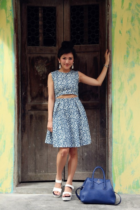 Millionmars Blue Cropped Dress 2